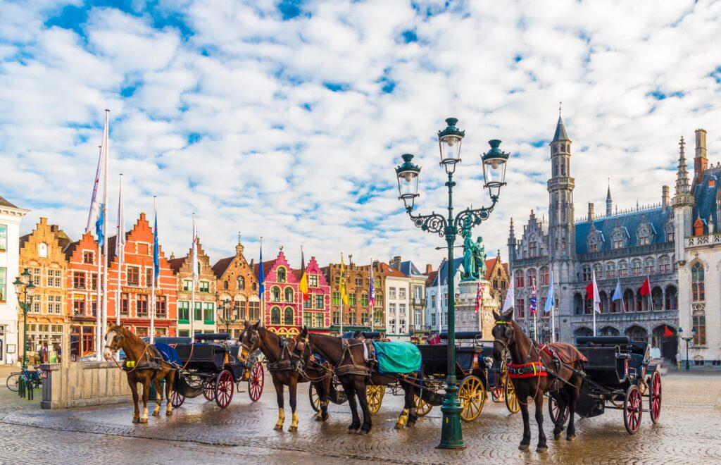 Markt Square in Bruges, Belgium.