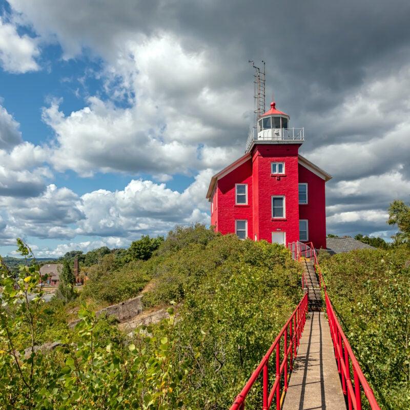 Marquette Harbor Lighthouse, Michigan.