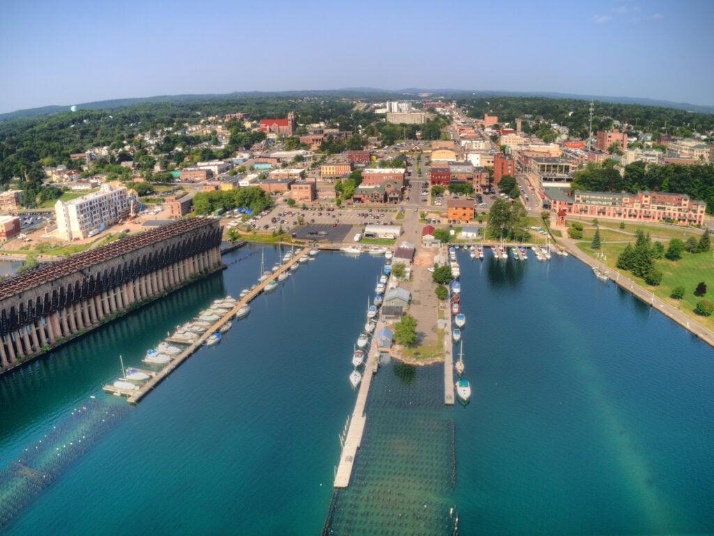 Marquette, Michigan, a Lake Superior port town.