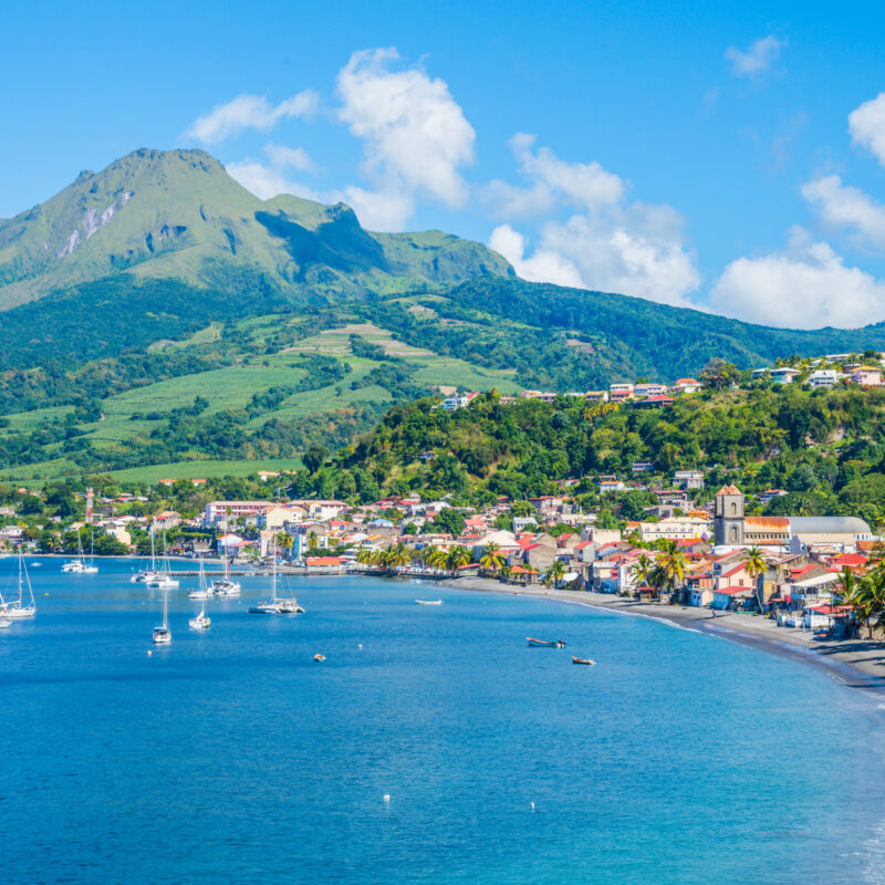 Martinique island, a French Overseas Territory in the Caribbean.