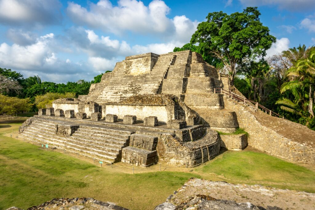 Mayan ruins at Altun Ha.