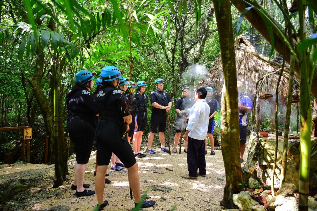 Mayan Smoke Ceremony at Rio Secreto.