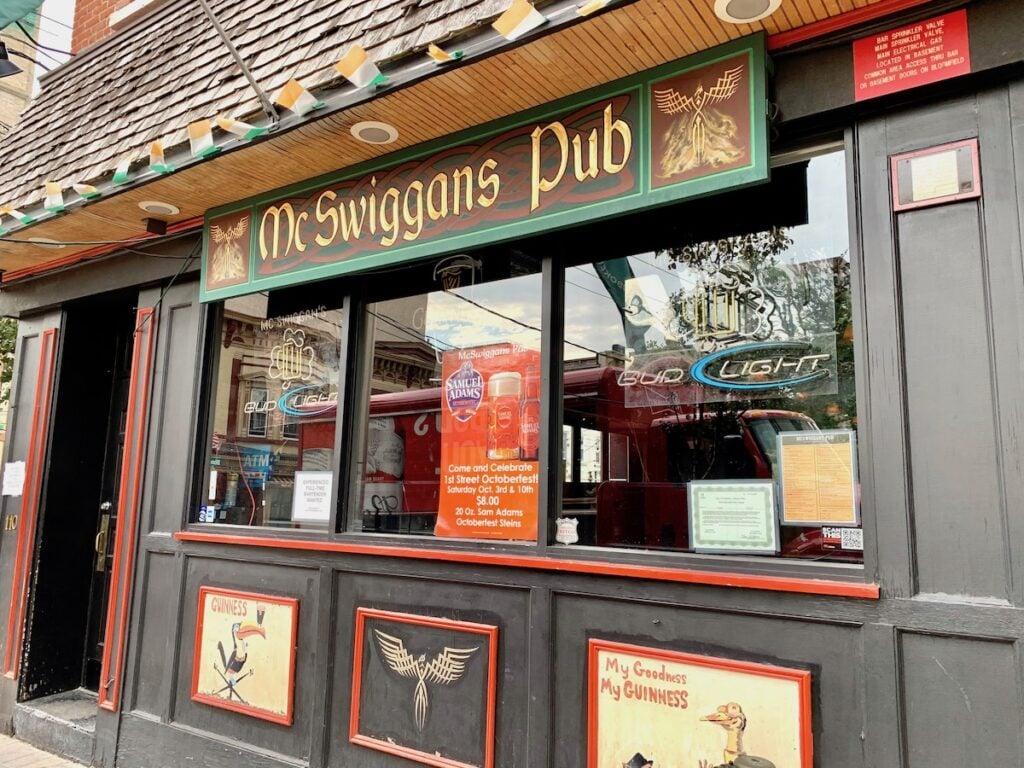 McSwiggans Pub in Hoboken, New Jersey.
