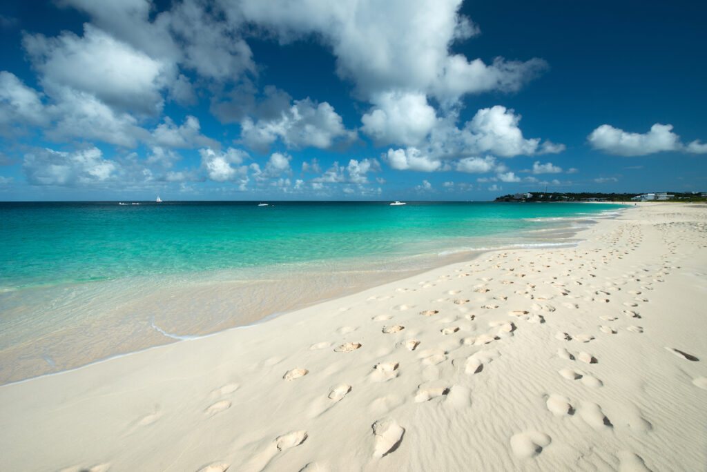 Meads Bay on Anguilla island in the Caribbean.