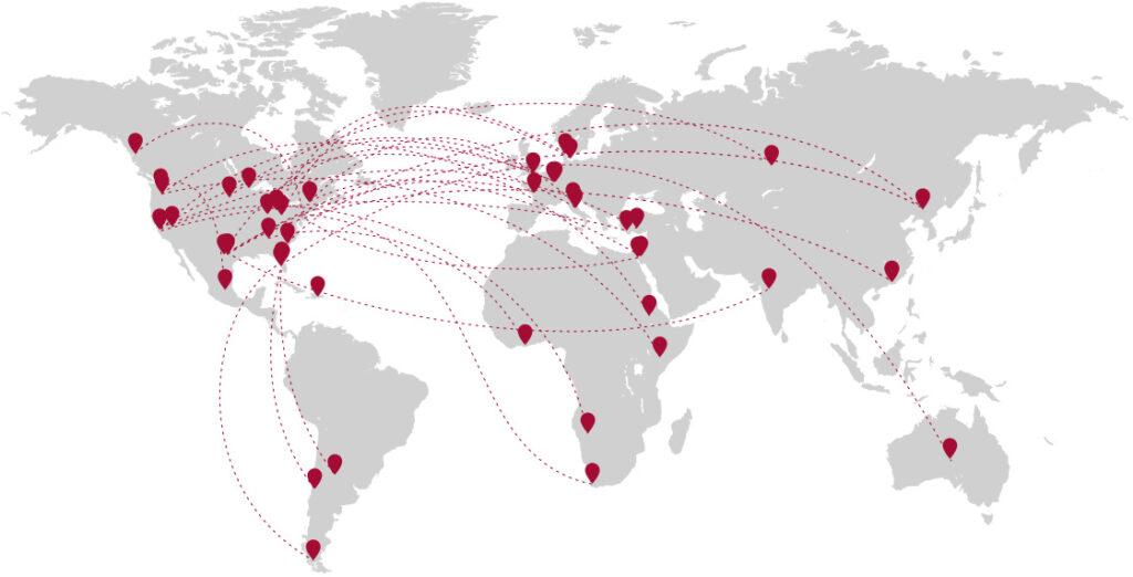Medjet global map