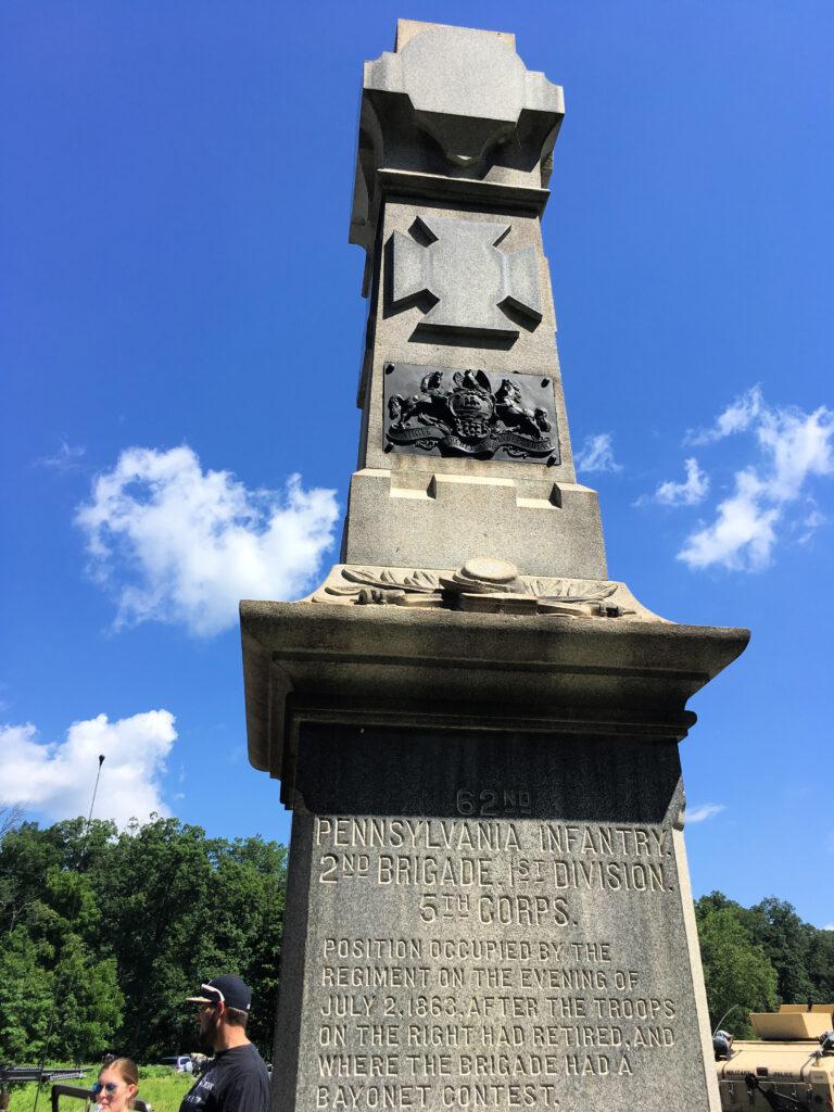 Memorial at Gettysburg National Military Park.