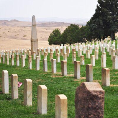 Memorial cemetery at Little Bighorn Battlefield.