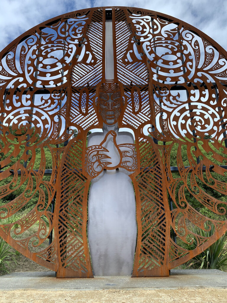 Memorial to slain Maori.