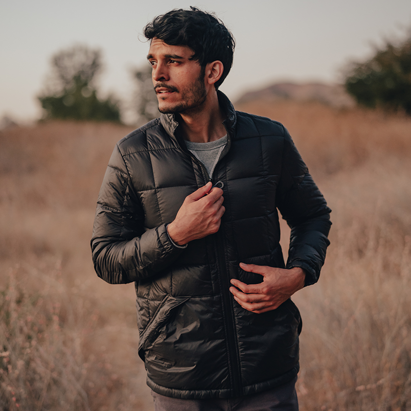 men in Normal Brand packable down jacket