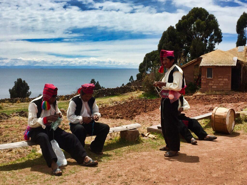 men of lake titicaca