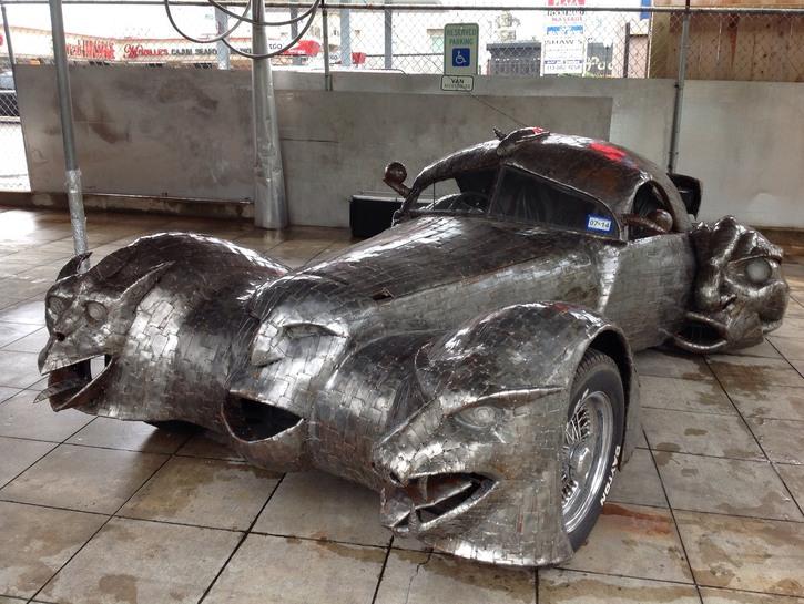 Metallic art car