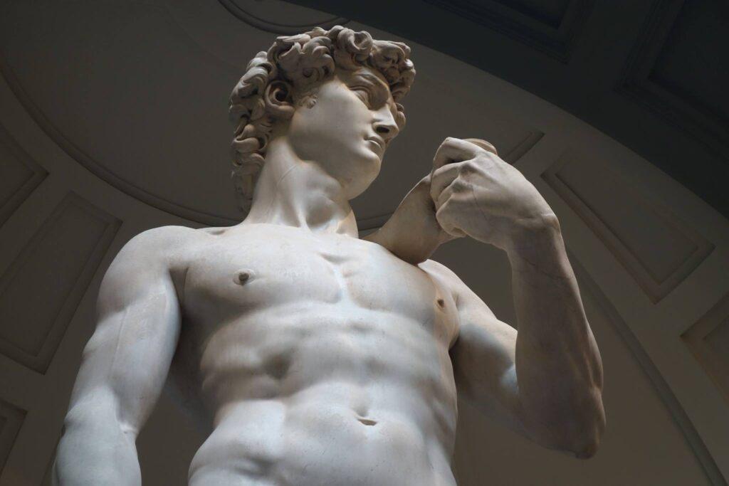 Michalangelo's David at the Galleria dell'Accademia.
