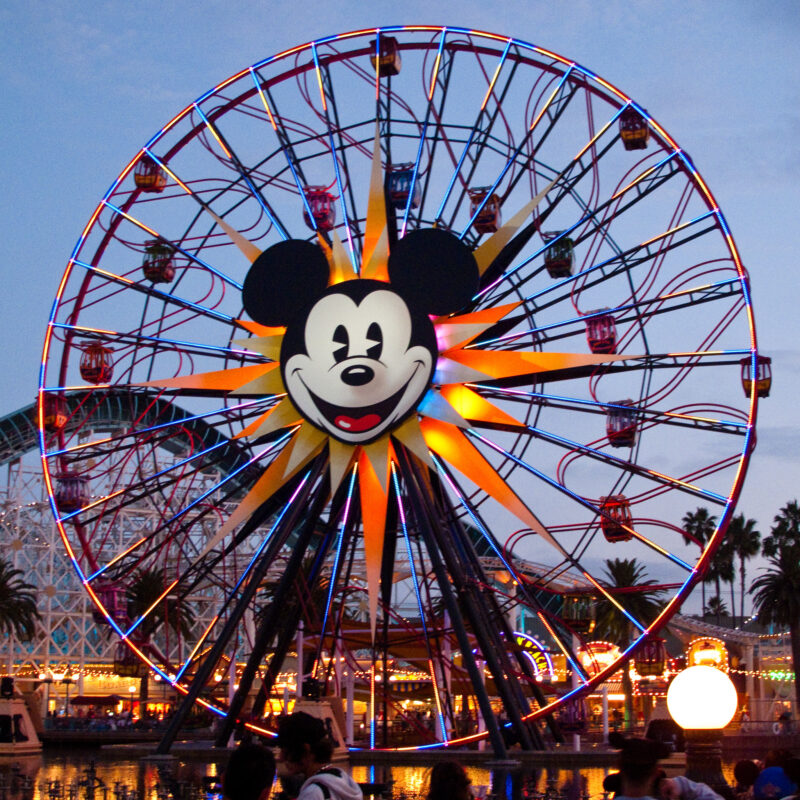 Mickey's Fun Wheel at Disney's California Adventure.