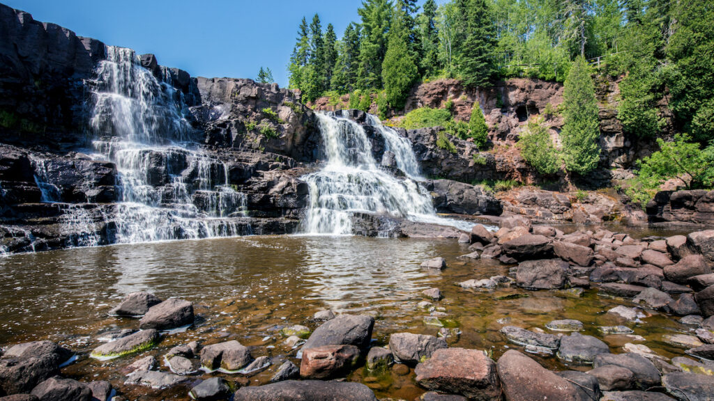 Middle Gooseberry Falls in Minnesota.