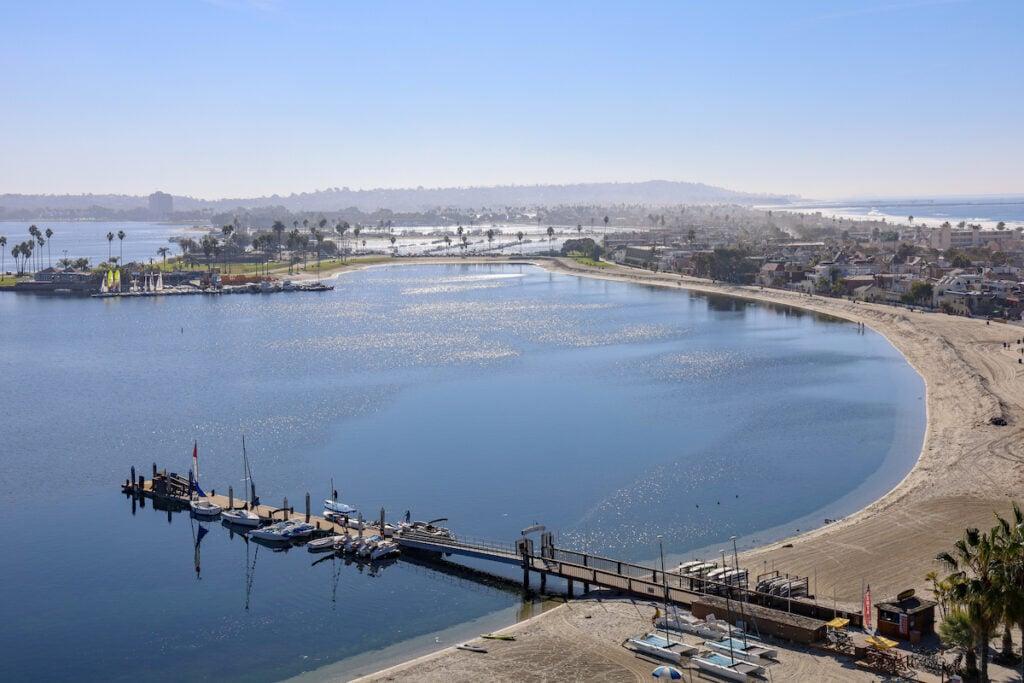 Mission Bay in San Diego, California.