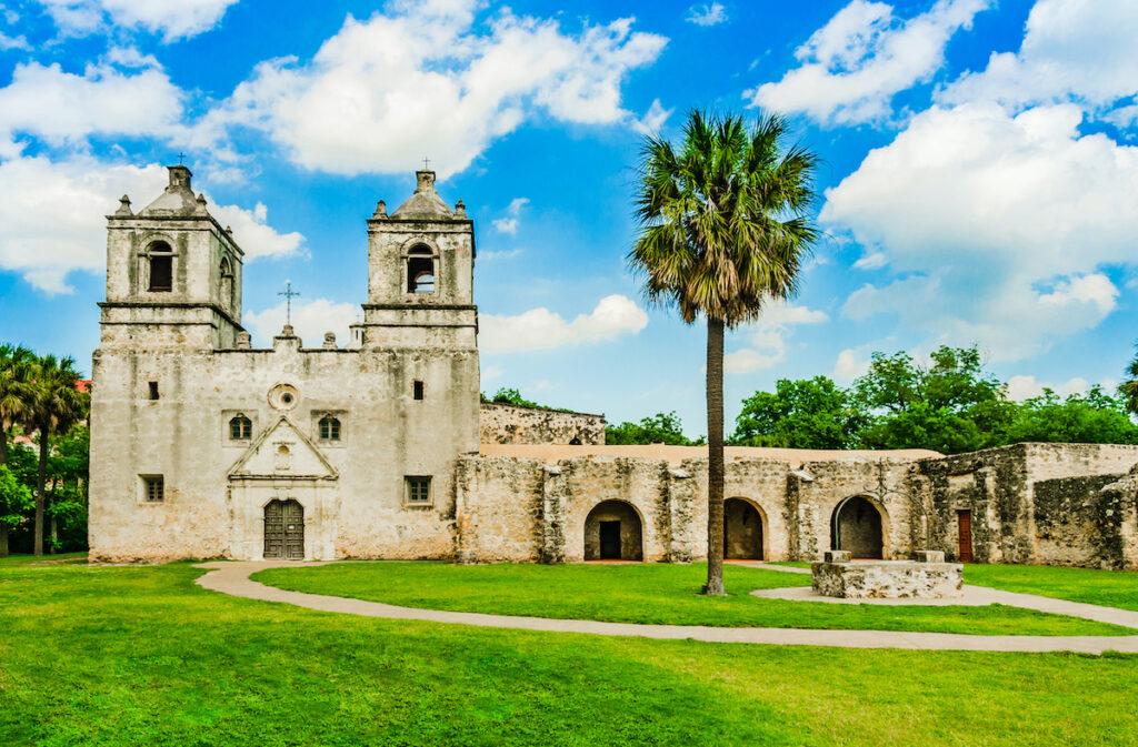 Mission Concepcion in San Antonio, Texas.