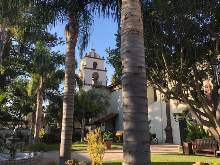 Mission San Buenaventura in California.