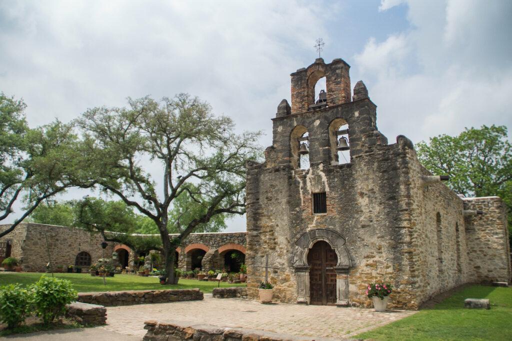 Mission San Francisco De La Espada in San Antonio, Texas.