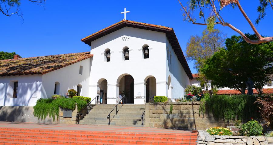 Mission San Luis Obispo de Tolosa in California.