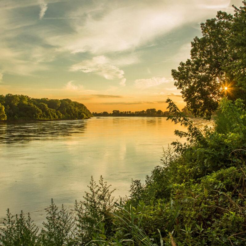 Missouri River near Parkland, Missouri.