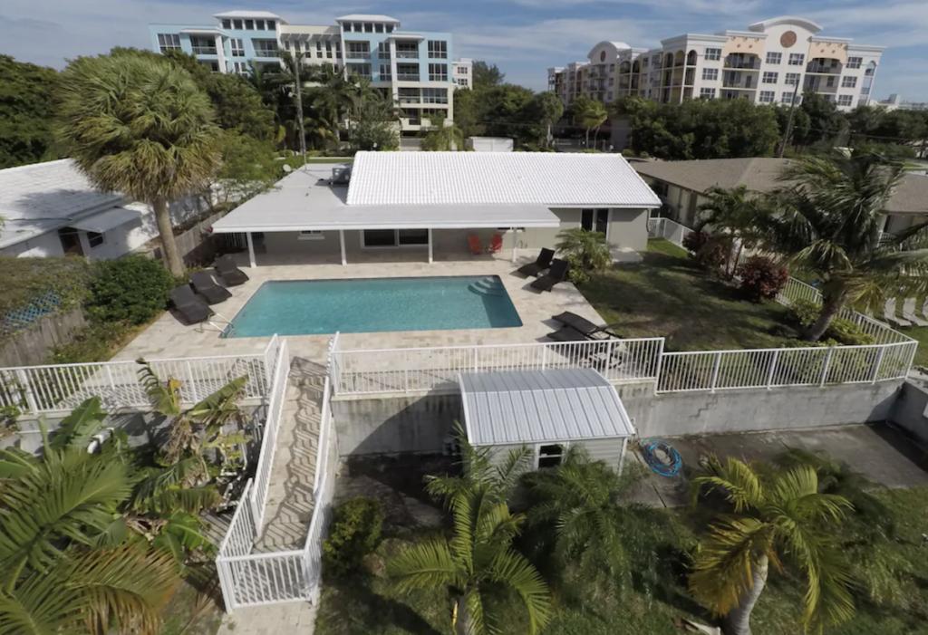 Modern waterfront beach home.