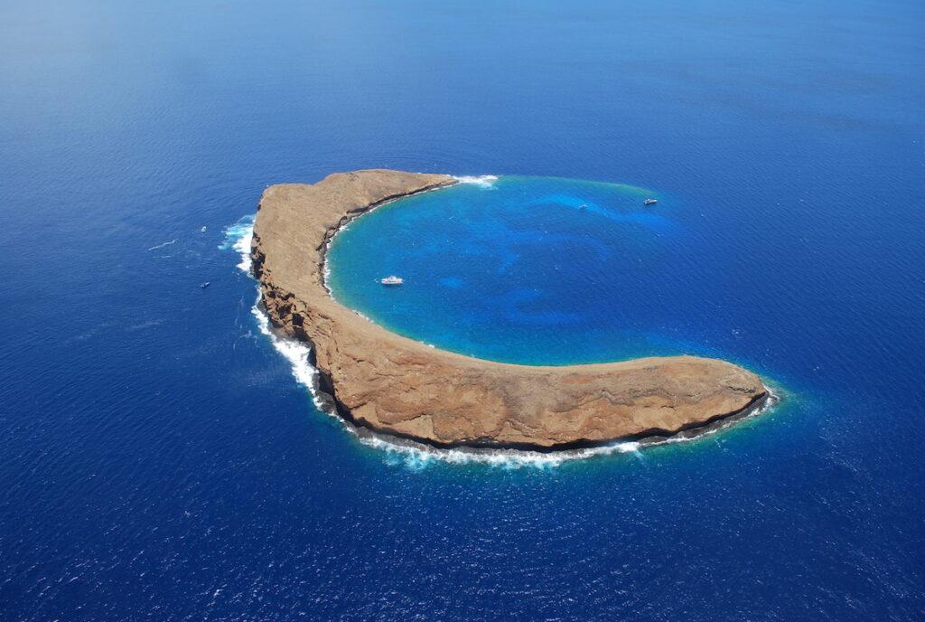 Molokini Crater off the coast of Maui.