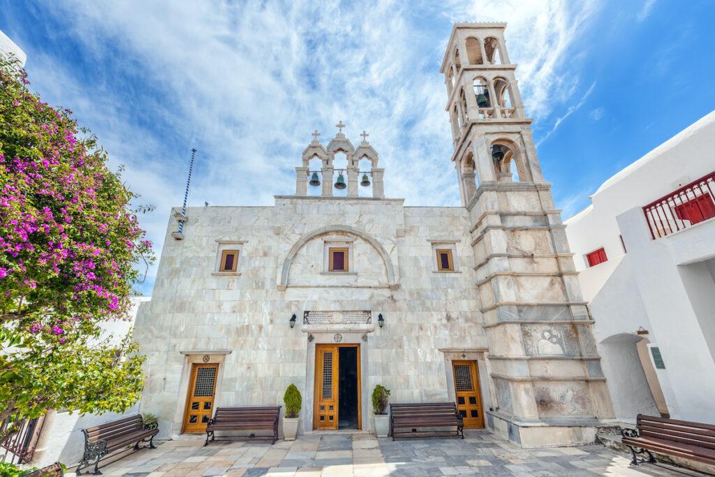 Monastery of Panagia Tourliani, Ano Mera, Greece.