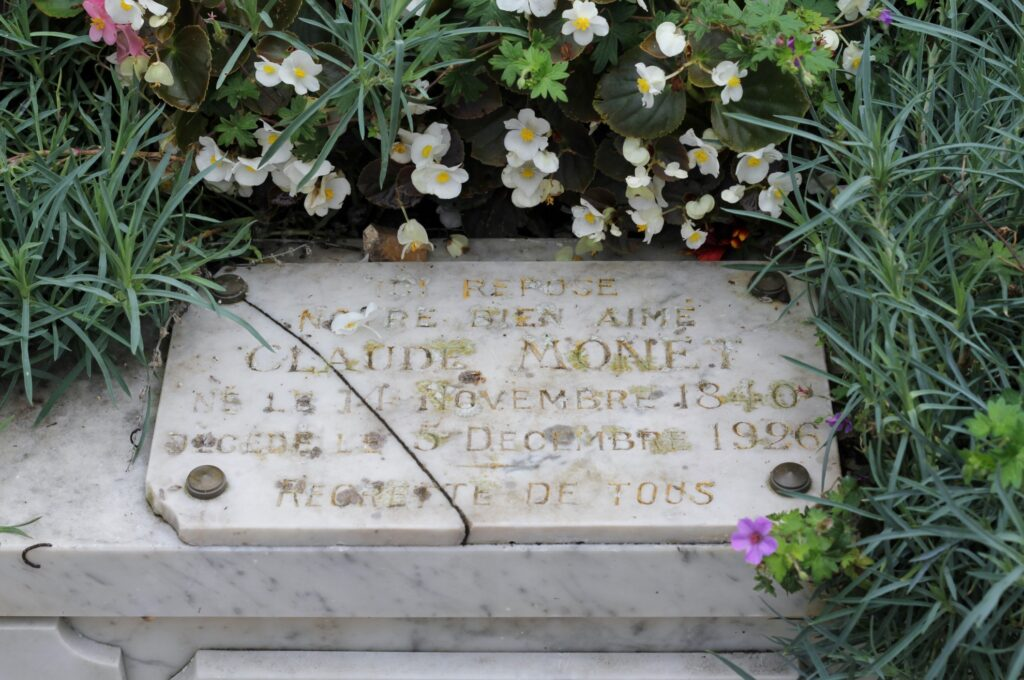 Monet's grave in Giverny.