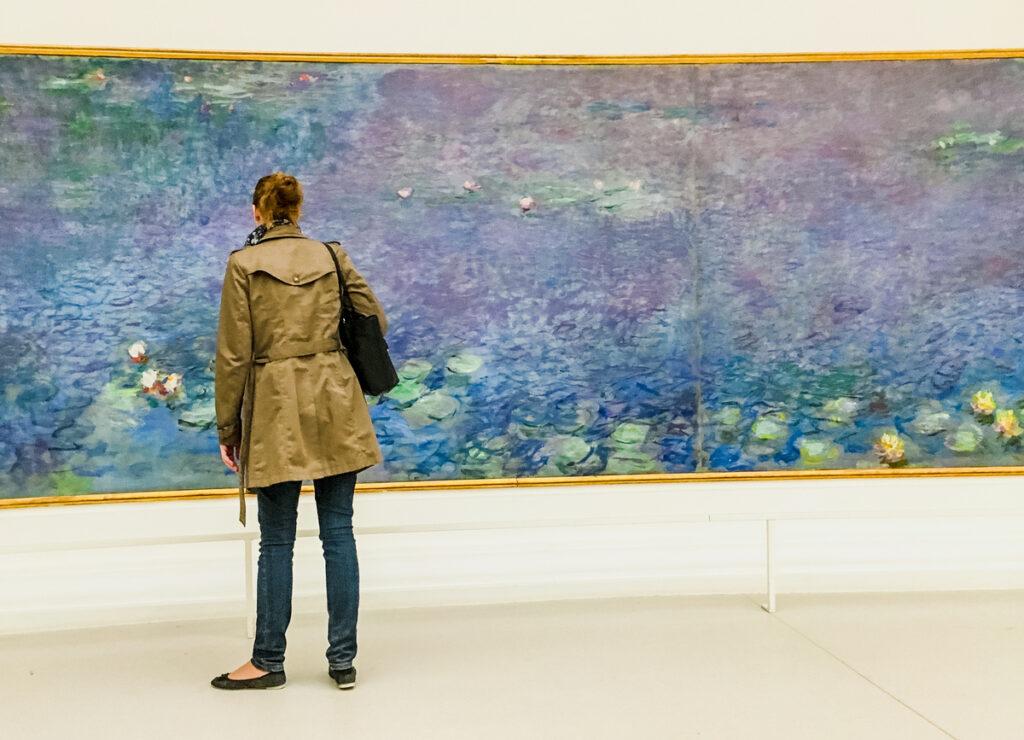 Monet's Water Lilies in the Musee de l'Orangerie.
