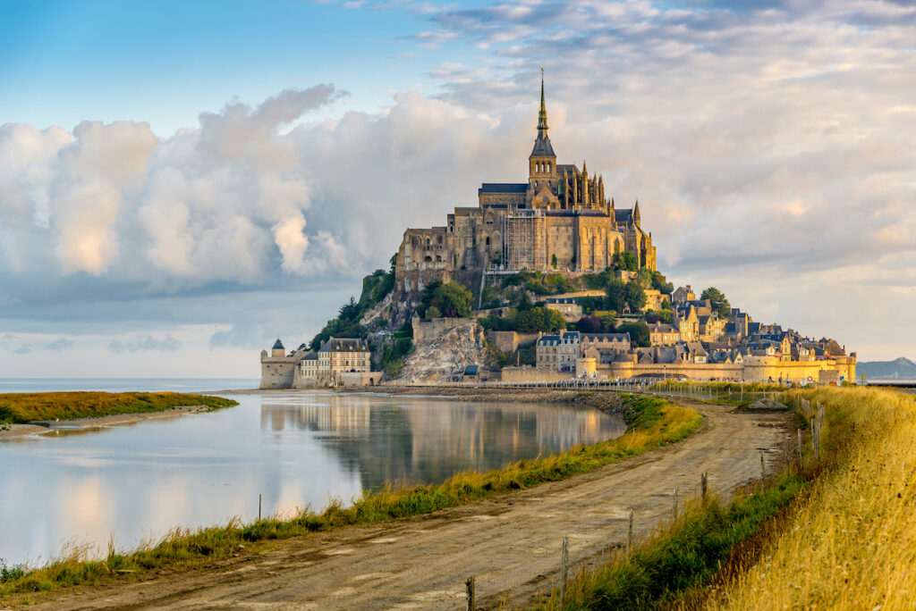 Mont Saint Michel, an island in Normandy, France.
