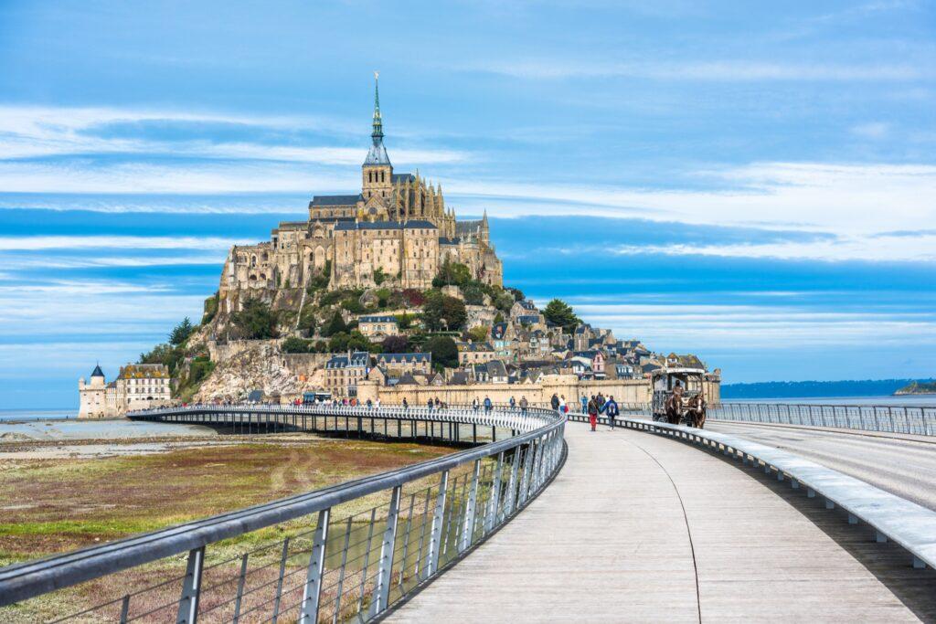 Mont-Saint-Michel in France.