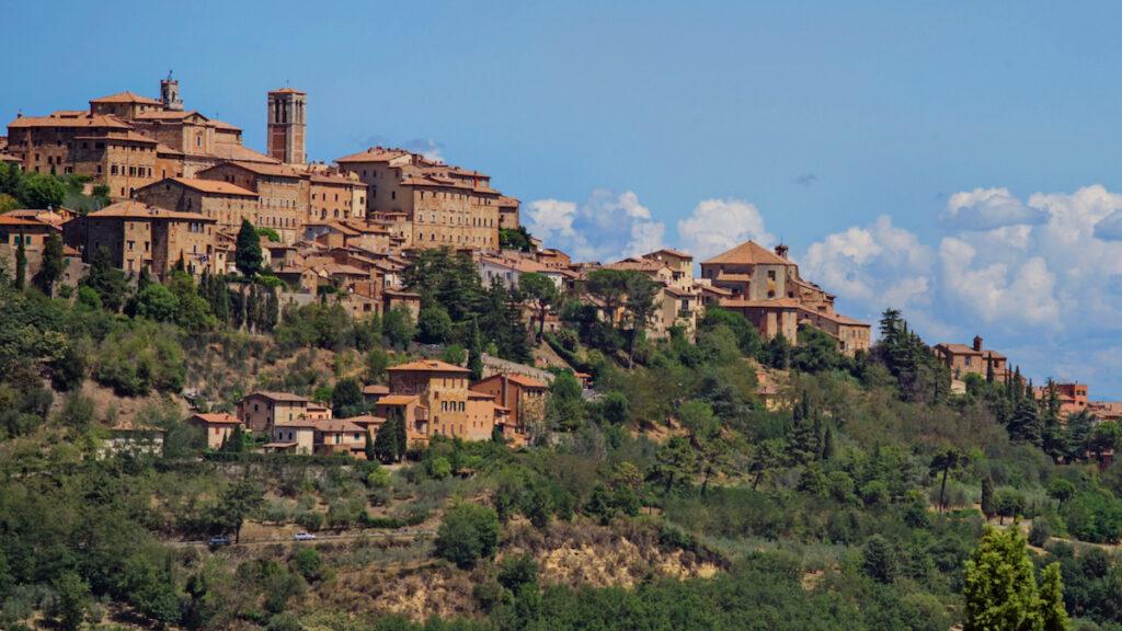Montepulciano in Italian region of Tuscany.