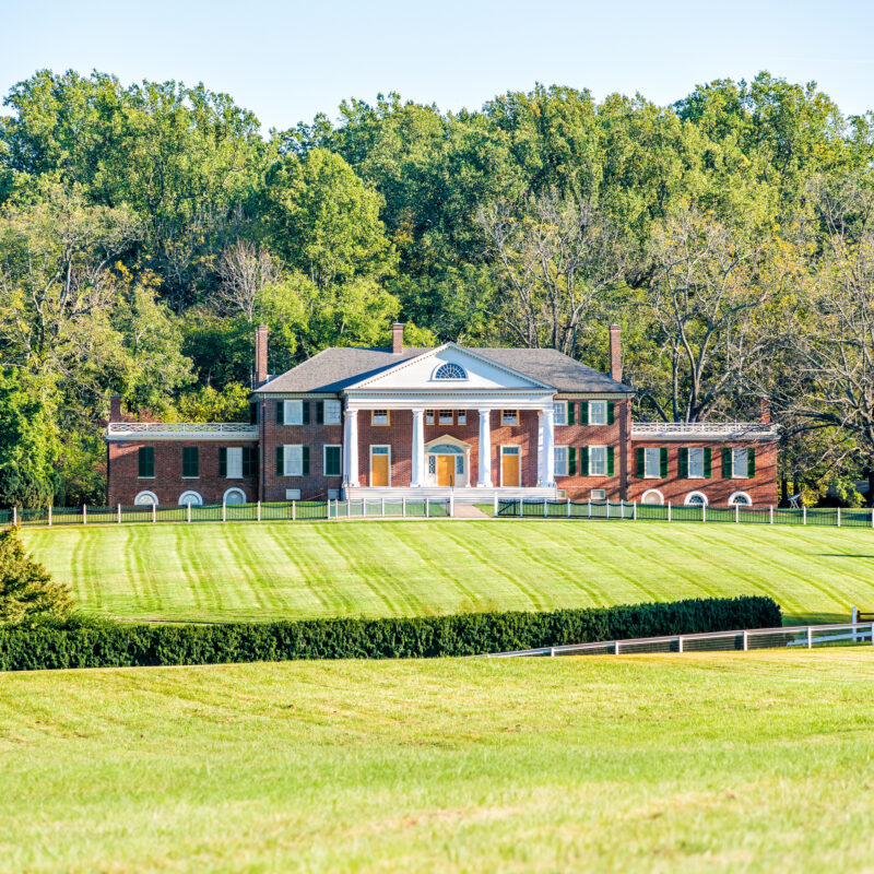 Montpelier, James Madison's home in Virginia.