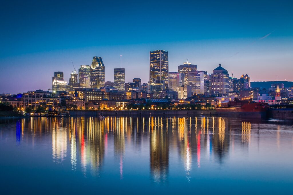 Montreal skyline in Canada.