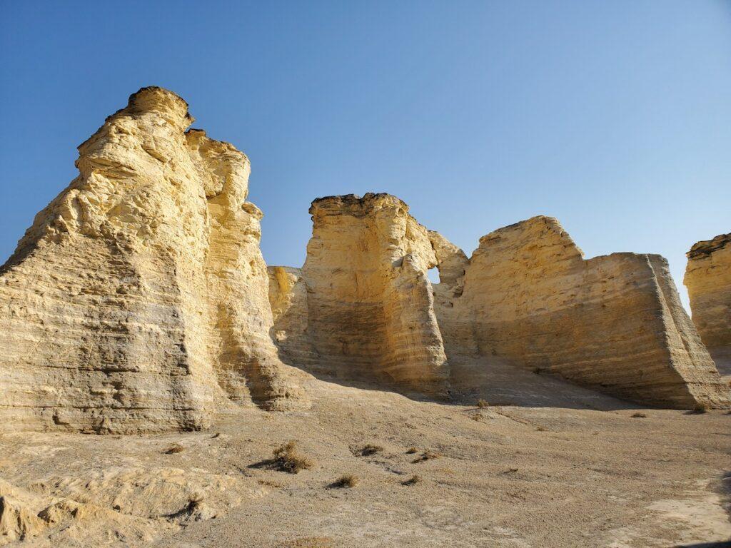 Monument Rocks in northwestern Kansas.