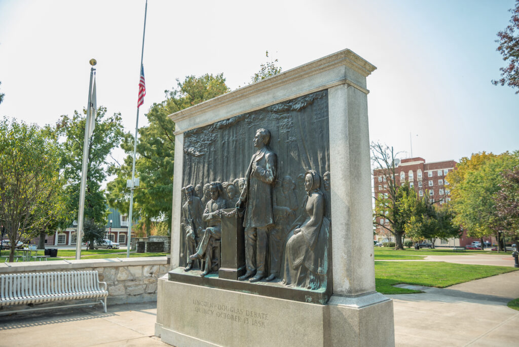 Monument to Lincoln - Douglas Presidential debate, Quincy, IL.