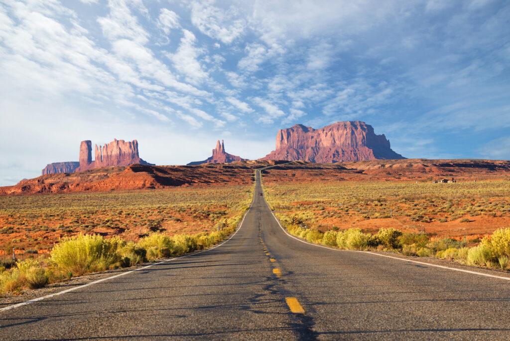 Monument Valley Scenic Drive in Arizona.