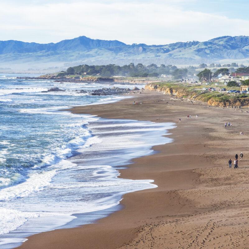 Moonstone Beach in Cambria, California.