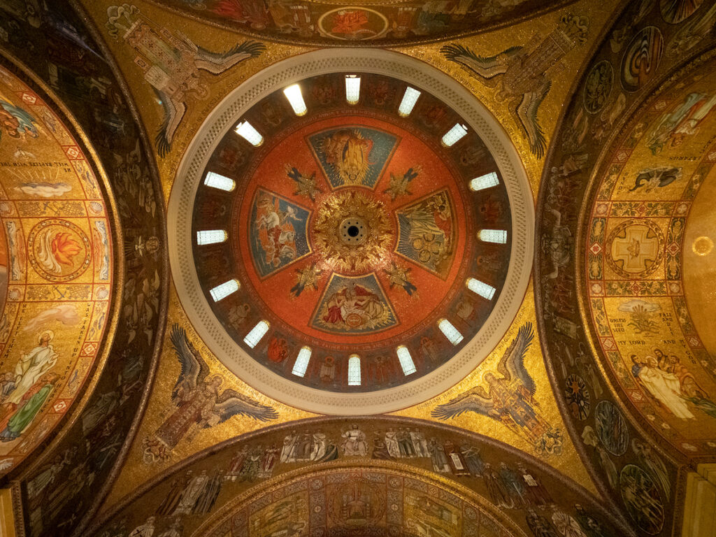 Mosaics of the Central Dome at the Cathedral Basilica of St. Louis.