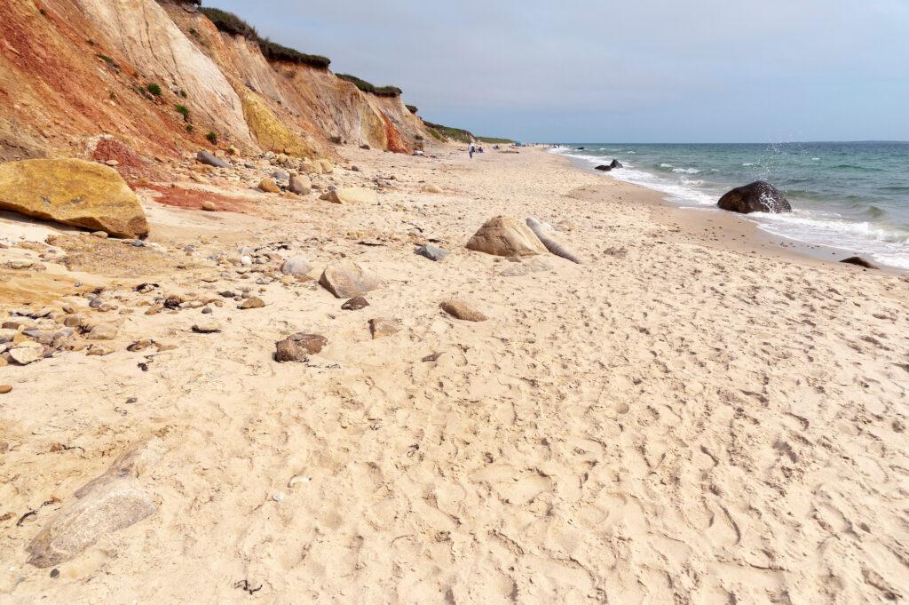 Moshup Beach and the Gay Head Cliffs on Martha's Vineyard island, Massachusetts
