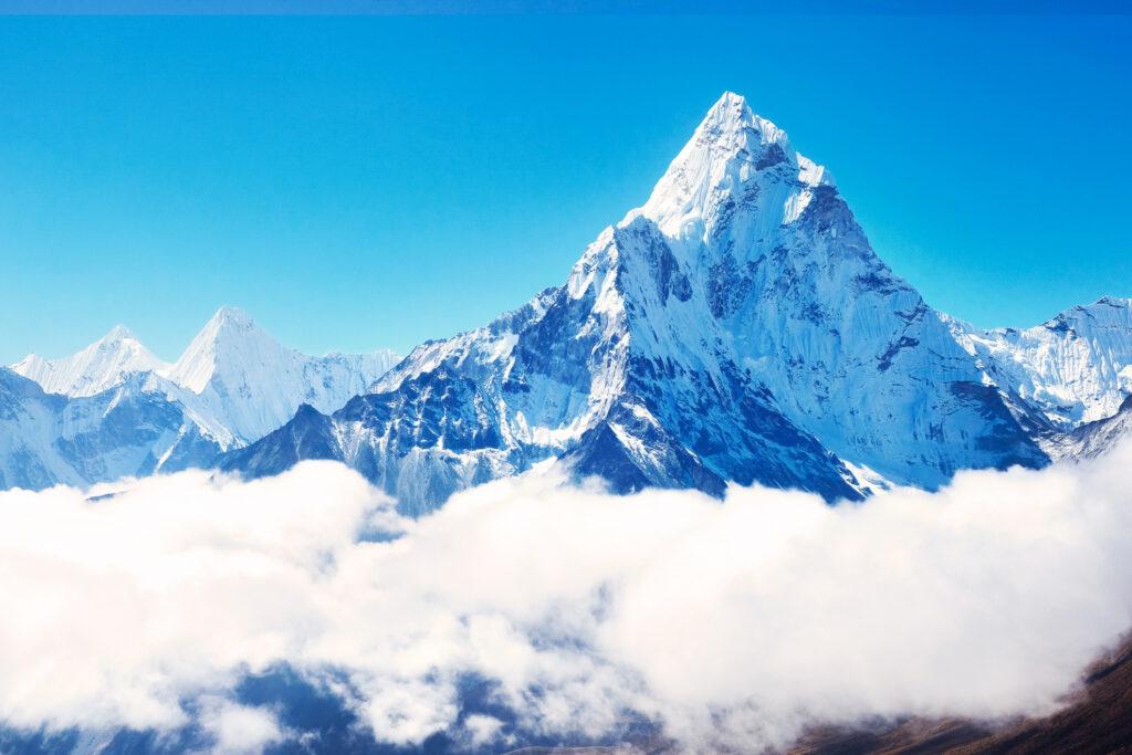 Mount Everest in Nepal.