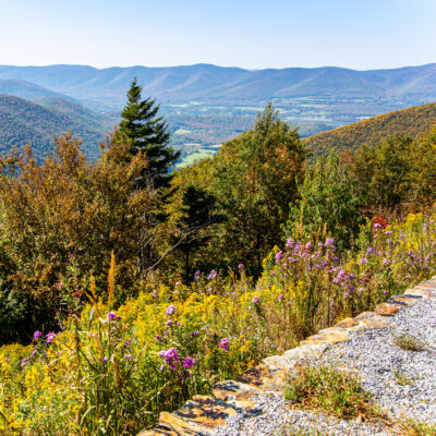 Mount Greylock in the fall in Lanesborough, Massachusetts.