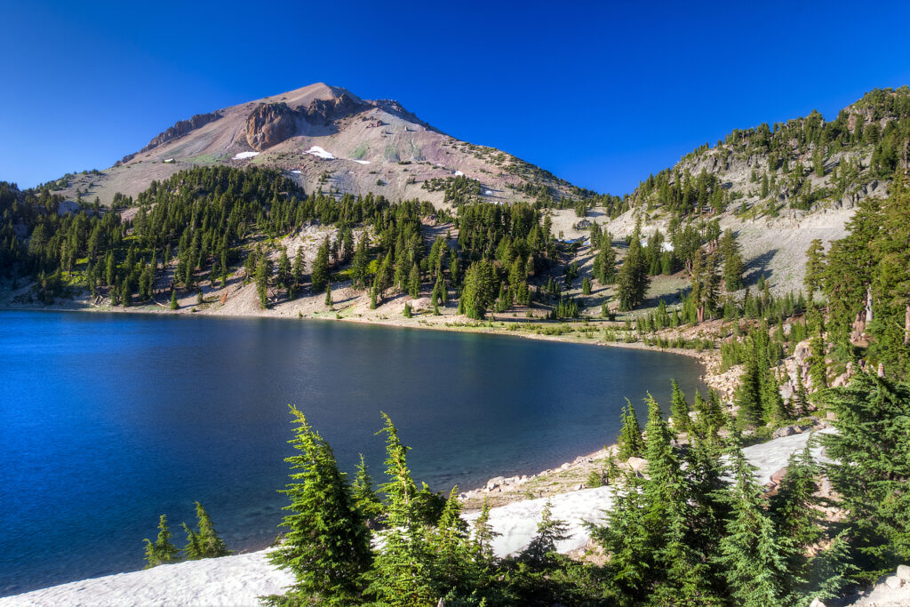 Mount Lassen in the Cascades.