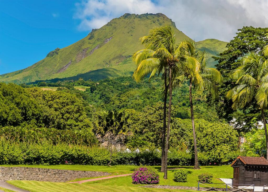 Mount Pelee volcano on Martinique.