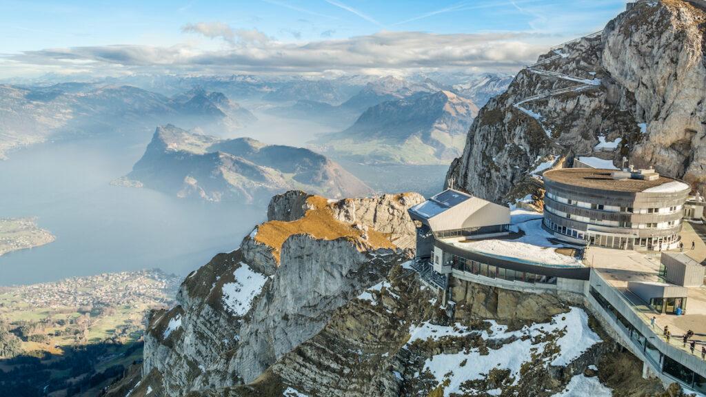 Mount Pilatus in Switzerland.