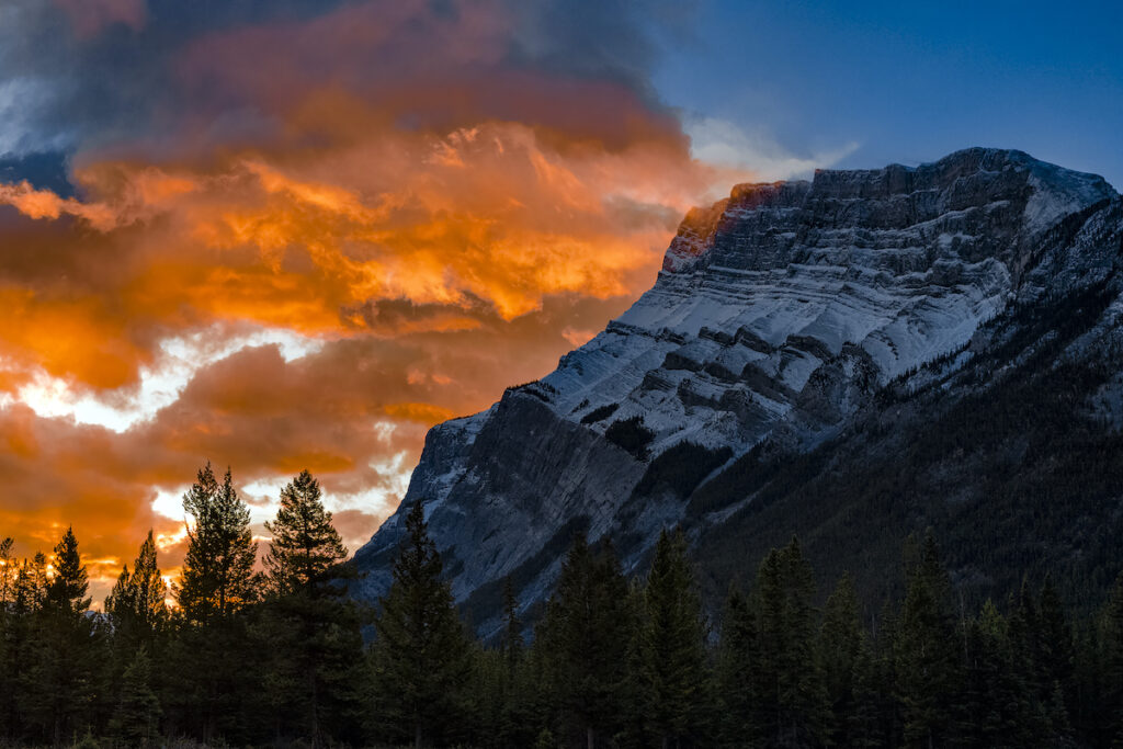 Mount Rundle in Banff National Park.