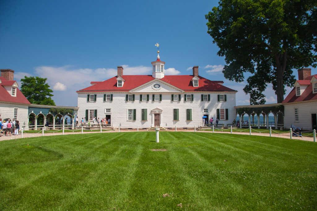 Mount Vernon in Alexandria, Virginia.