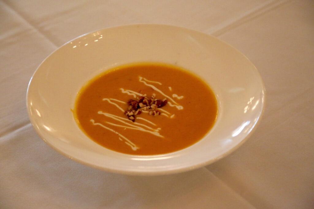Mount Vernon Inn's peanut and chestnut soup.