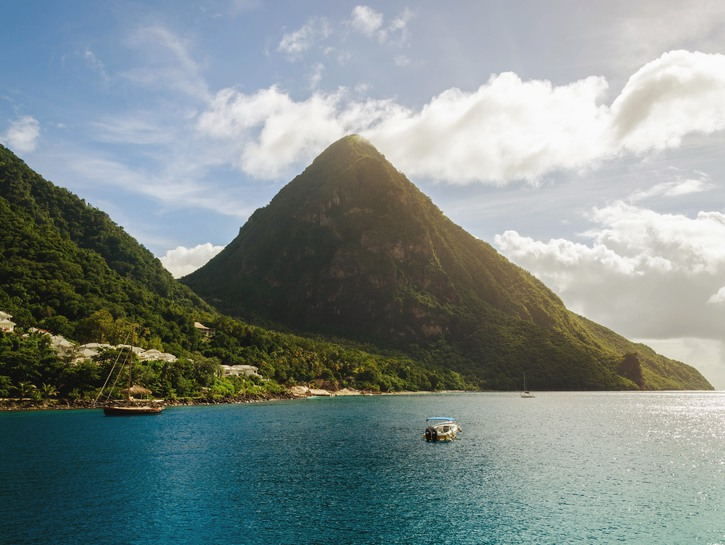 Mountain on the coast of St. Lucia