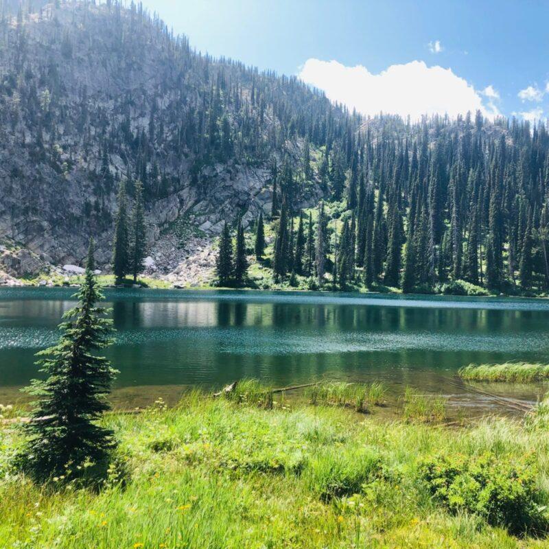 Mountain, Snow Slide Lake, McCall, Idaho.